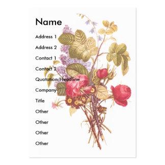 Rose Lilac Victorian Scrapbook Card Business Cards