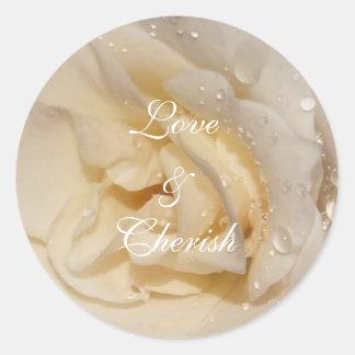 rose, Love & Cherish, Photo by: TEYoung Classic Round Sticker