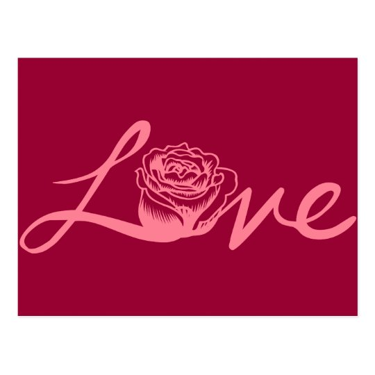 Rose . Love Postcard