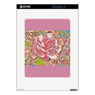 """Rose Lover"" Digital Pink Flower Painting iPad Decals"