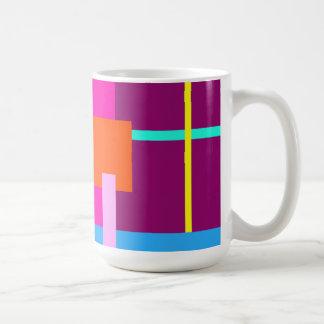 Rose Magenta Squares Classic White Coffee Mug
