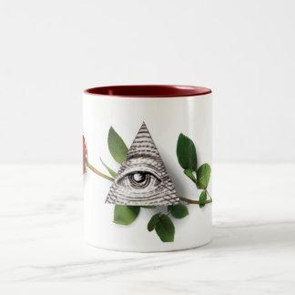 Rose Magi Pyramid Two-Tone Coffee Mug