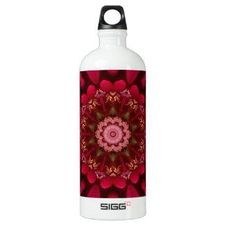 Rose Mandala Aluminum Water Bottle