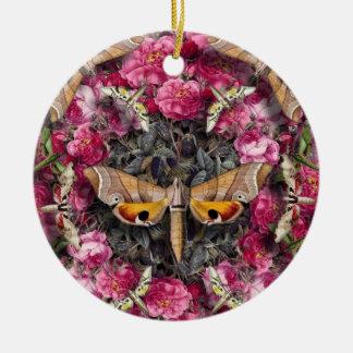 Rose Mandala Ceramic Ornament