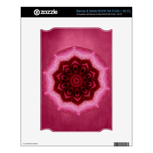 Rose Mandala Decal For The NOOK