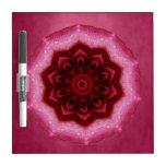 Rose Mandala Dry-Erase Whiteboard