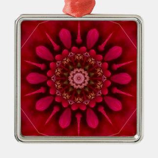 Rose Mandala Metal Ornament
