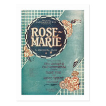 Rose Marie A Musical Play Songbook Cover Postcard