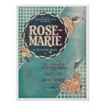 Rose Marie A Musical Play Songbook Cover Poster