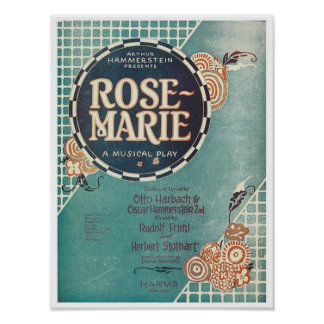 Rose Marie A Musical Play Songbook Cover Posters