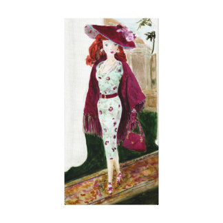 Rose: Matisse Doll Fashion Gallery Wrap Canvas