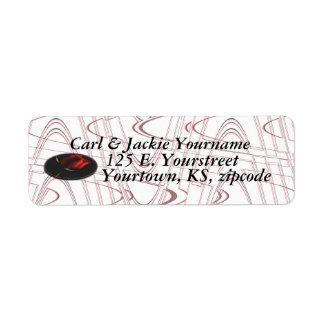Rose medallion address label-customize label