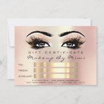 Rose Metallic Lash Makeup Artist Certificate Gift