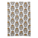 Rose Mexican Sugar Skull Day of the Dead Hand Towel