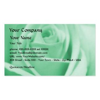 Rose - Mint Green - business card template