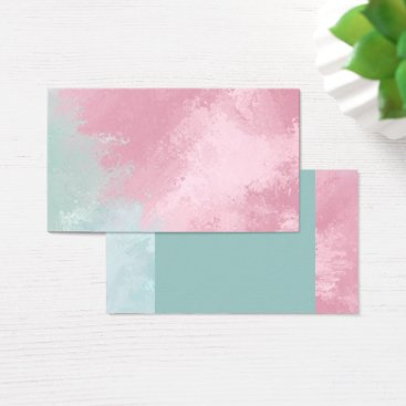 Professional Business Rose/Mint Pastel Business Cards