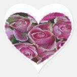 Rose Mosaic Heart Sticker