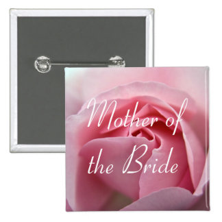Rose :: Mother of the Bride Wedding Button