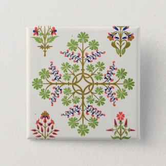 Rose motif wallpaper design, printed by M. & N. Ha Button