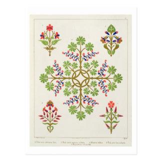 Rose motif wallpaper design, printed by M. & N. Ha Postcard