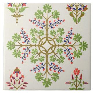 Rose motif wallpaper design, printed by M. & N. Ha Tile