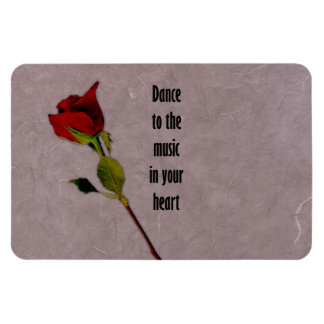 Rose Music in Your Heart Rectangular Photo Magnet
