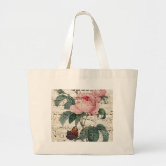 Rose Music Large Tote Bag