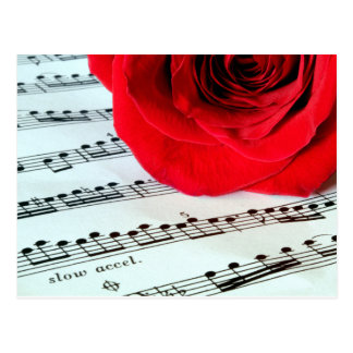 Rose & Music -Music Lover Postcard