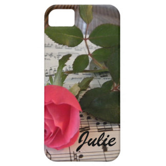 Rose Music Notes iPhone SE/5/5s Case
