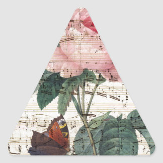 Rose Music Triangle Sticker