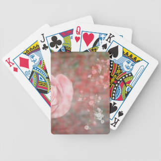 rose n baby breath blotched flower design bicycle playing cards