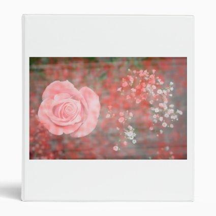 rose n baby breath blotched flower design vinyl binders