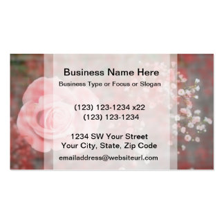 rose n baby breath blotched flower design Double-Sided standard business cards (Pack of 100)
