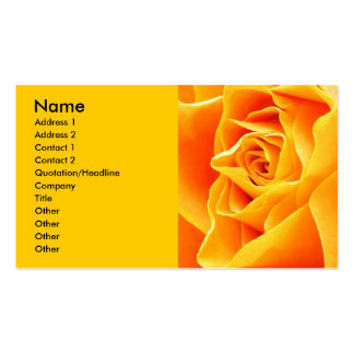 Rose, Name, Address 1, Address 2, Contact 1, Co... Double-Sided Standard Business Cards (Pack Of 100)