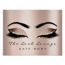 Rose Name Makeup Artist Beauty Studio Lashes Poster