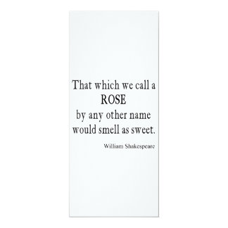 Rose Name Would Smell As Sweet Shakespeare Quote Card