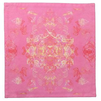 rose napkin