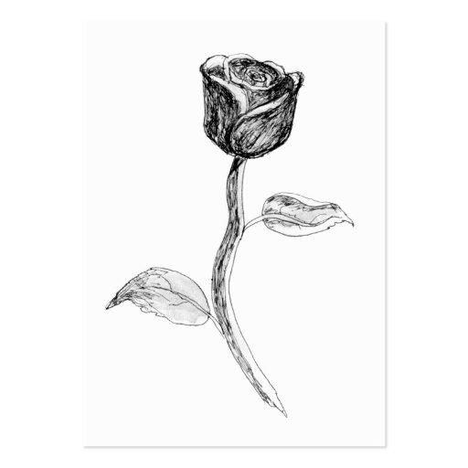 Rose negra tarjetas de visita grandes