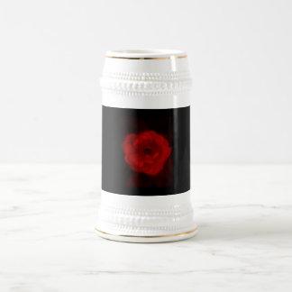 Rose negra y roja jarra de cerveza