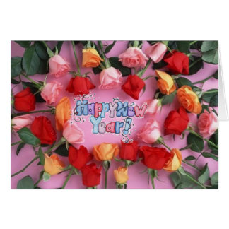 rose new year card
