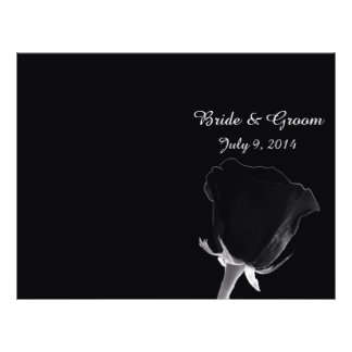 "Rose Noire Folded Wedding Program 8.5"" X 11"" Flyer"