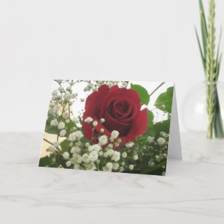 Rose Note Card card