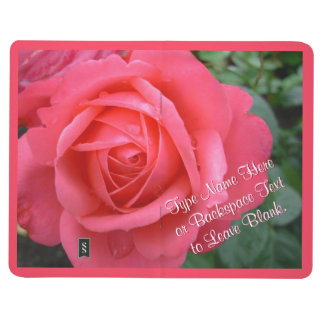 Rose Notebook Personalize Pink Rose Journal Book