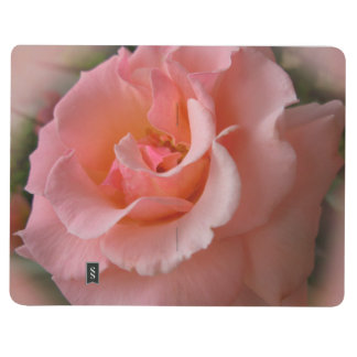 Rose Notebook Personalized Peach Rose Journal Book