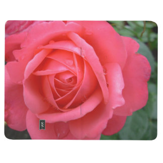 Rose Notebook Personalized Pink Rose Journal Book