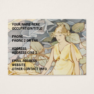 Rose Nymph in Garden Business Card