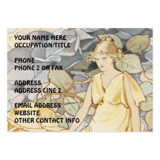 Rose Nymph in Garden Large Business Card