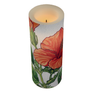 Rose of china - Hibiscus rosa sinensis Flameless Candle
