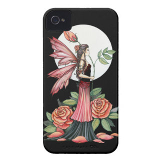 Rose of Fire Gothic Fairy Fantasy Art iPhone 4 Case-Mate Case