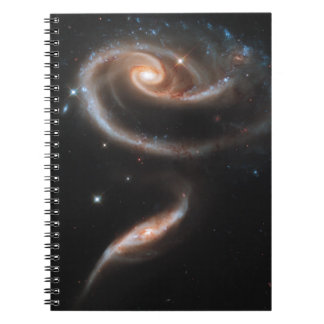 Rose of Galaxies Spiral Notebook